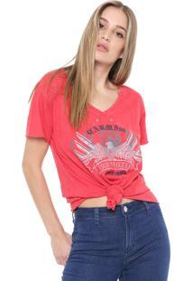 Camiseta Carmim Iron Wheels Vermelha