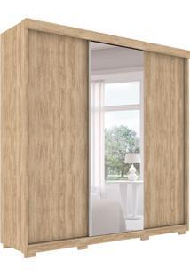 Guarda-Roupa Casal Com Espelho Toronto 3 Pt 6 Gv Cedro