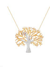 Colar La Madame Co. Árvore Da Vida 2 Pingentes Banhado Ouro Rosé
