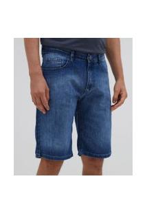 Bermuda Slim Em Jeans   Marfinno   Azul   42