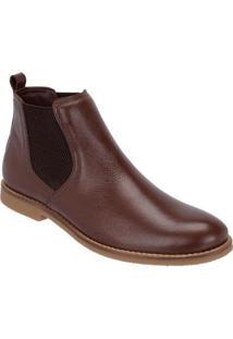 Bota Chelsea Camurça Escrete Boots Fechamento Em Elástico Masculina - Masculino