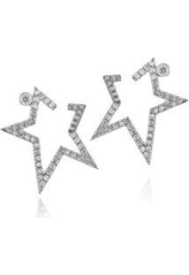 Brinco Stardust Diamante Branco C/ Diamante Ttlb - U