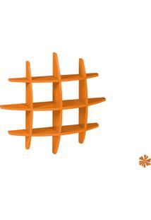 Prateleira Taylor Hashtag Média Mdf Laranja Escuro 598-0151 - 90X90X14 Cm