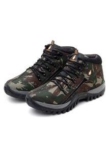 Tenis Adventure Masculino Bota Coturno Boots Trilha Militar Confort