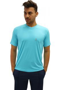 Camiseta Manga Curta Question Sport Com Decote V Dri-Fit Azul Claro a6b5c15ec83