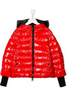 Herno Kids Hooded Padded Jacket - Vermelho