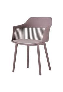 Cadeira Leslie Polipropileno Camurca - 58274 Preto