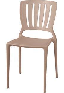 Cadeira Sofia Encosto Vazado Vertical Camurça - Tramontina