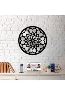 Escultura De Parede Wevans Mandala Abstrato + Espelho Decorativo