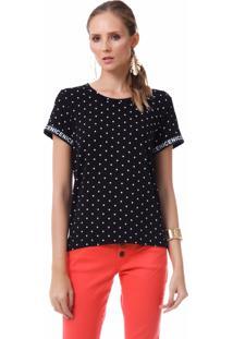 0f4af3eb7 Camiseta Preta Skinny feminina | Shoes4you