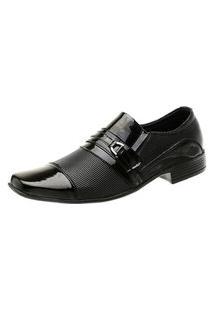 Sapato Social Masculino Torani Brilhoso Verniz Preto