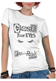Camiseta Criativa Urbana Rock Music - Feminino