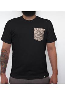 Xícaras - Camiseta Clássica Com Bolso Masculina