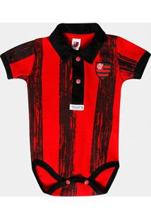 Body Listras Craqueladas Flamengo Bebê - Masculino