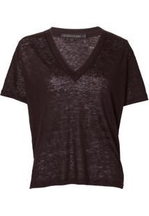 Camiseta John John Linen Black Feminina (Preto, G)