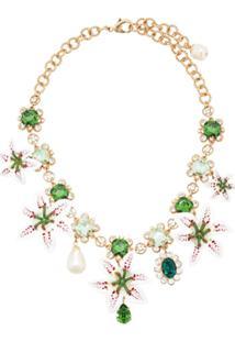 Dolce & Gabbana Colar Com Aplicações Florais - Verde