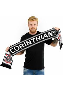 Cachecol Corinthians Dupla Face - Unissex