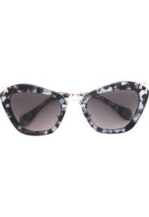 Miu Miu Eyewear Óculos De Sol Oversized - Brown