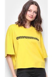 Camiseta Colcci Inspiration Feminina - Feminino-Amarelo