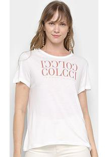 Camiseta Colcci Logo Básica Feminina - Feminino