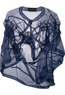 Comme Des Garçons Pre-Owned Blazer Assimétrico - Azul