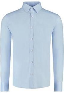 Camisa Vr Maquinetada Masculina - Masculino-Azul