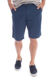 Bermuda Sarja Flash Aleatory Masculina - Masculino-Azul