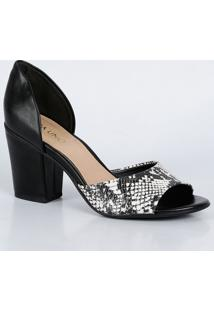 Peep Toe Feminino Estampa Animal Print Via Uno 284