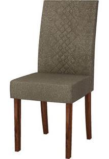 Cadeira Olímpia 2 Peças - Rústico Malbec Com Pena Marrom