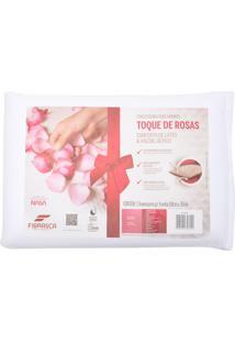 Travesseiro Fibrasca Dois Amores Toque De Rosas Visco E Conforto De Látex Bege - Tricae