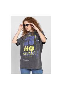 Camiseta Colcci Mickey And Band Grafite