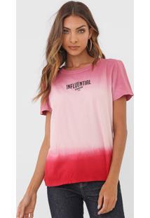 Camiseta Colcci Tie Dye Rosa
