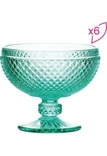 Jogo De Taças Para Sobremesa Bico De Jaca- Verde Água
