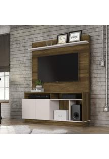 Estante Home Para Tv Até 60 Polegadas 2 Portas Parati Colibri Móveis Canela Rústico/Off White