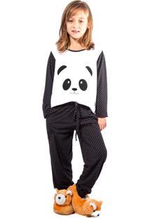 2c94cf6d8 Pijama Para Menina Com Bolso Conforto infantil