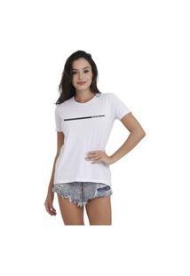 Camiseta Jay Jay Basica Minimalist Branca Dtg