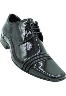 e16075c0c Sapato Social Jota Pê Technology Verniz Masculino - Masculino-Preto