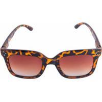 521cea7a939cb Zattini. Óculos Marielas Quadrado Tartaruga Feminino - Feminino-Marrom
