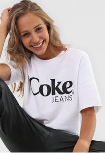Camiseta Coca-Cola Jeans Estampada Branca - Kanui