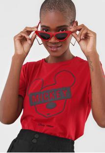 Camiseta Colcci Mickey Vermelha