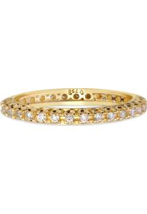 Aliança Absoluta Ouro Amarelo E 32 Pontos De Diamantes
