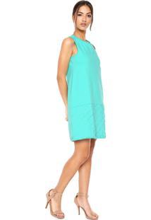 Vestido Lança Perfume Curto Evasê Verde