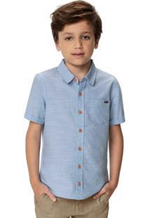 Camisa Azul Claro Em Algodão Menino
