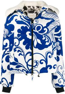 La Doublej Jaqueta Com Estampa Cortina Marea Blu - Azul