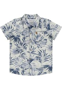 Camisa Meia Malha Penteada Cinza