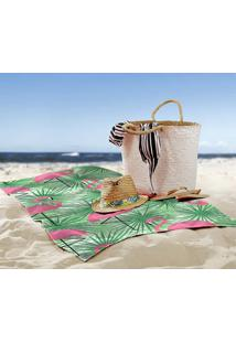 Toalha De Praia / Banho Flamingos Tropical Brasil