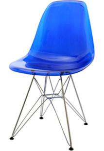 Cadeira Eames Policarbonato Azul Base Cromada 18683 - Sun House