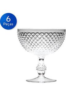 Conjunto 6 Taças De Acrílico Para Sobremesa 395 Ml - Bon Gourmet - Transparente