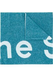 Acne Studios Cachecol Toronty Com Logo - Azul
