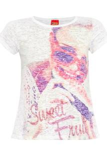 Camiseta Kyly Sweet Fruit Off-White